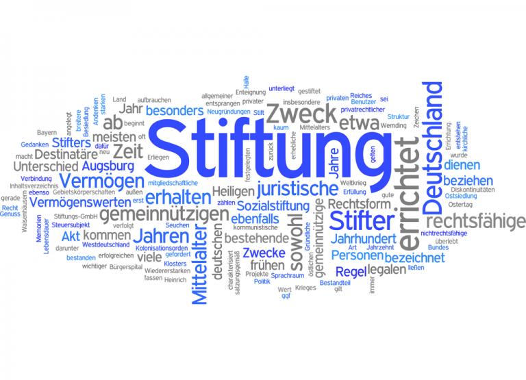Wortwolke, Hauptwort Stiftung