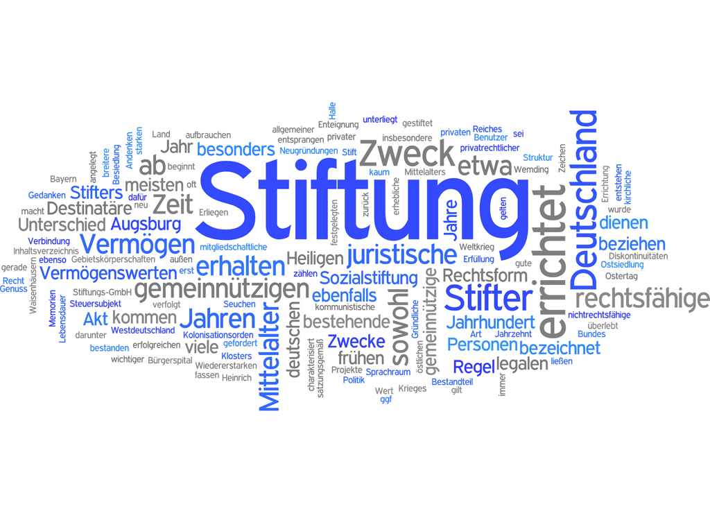 Wortwolke Stiftung