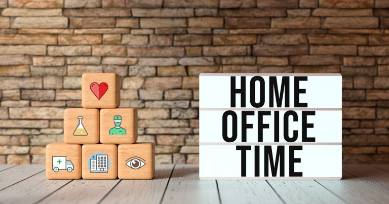 Foto: Buchstaben Homeoffice