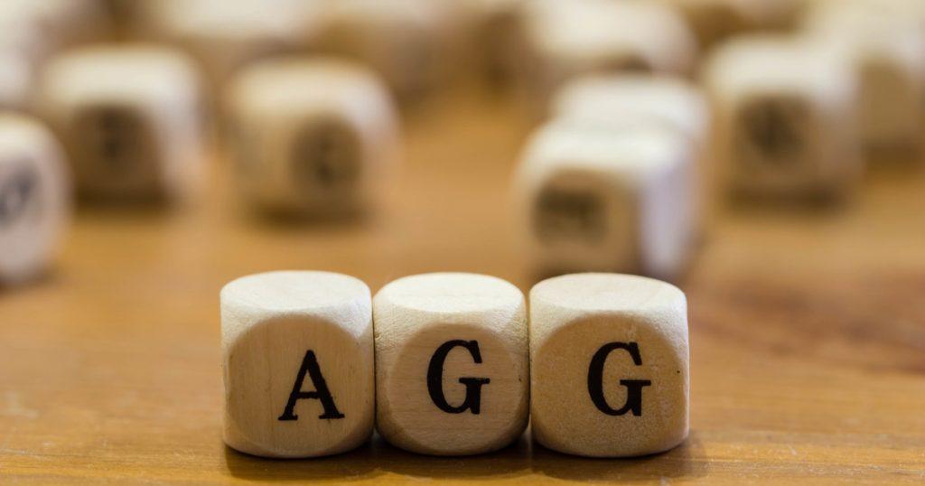 Würfel: Aufschrift AGG