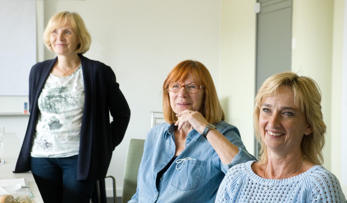Gut gelaunt: Rita Genz, Käthe Kupke und Daniela Dörmer