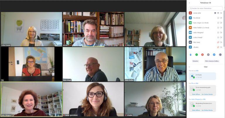 Bildschirmfoto: Zoom-Training dbb akademie GmbH