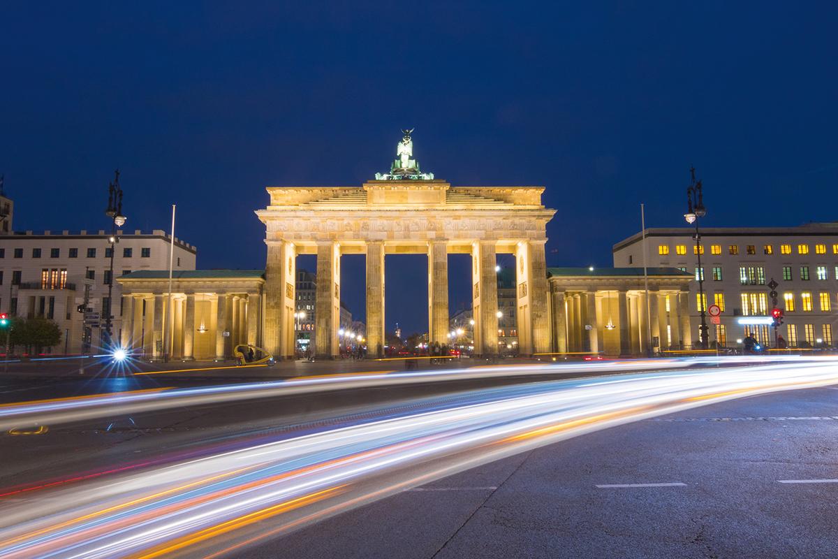 Foto: Brandenburger Tor am Abend