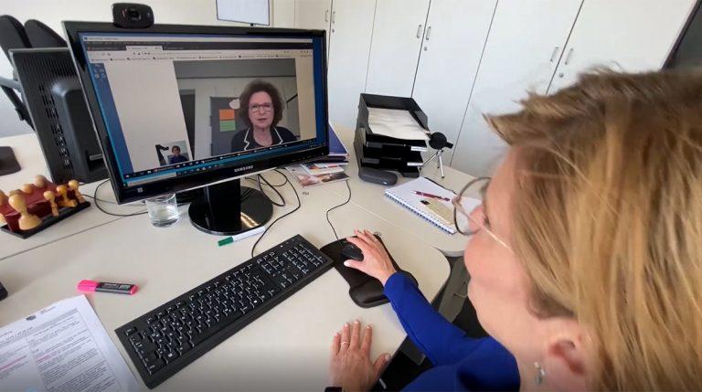 Foto: Klientin und Online-Coachin