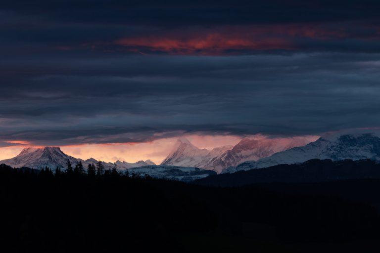 Foto: Berge und Wolken