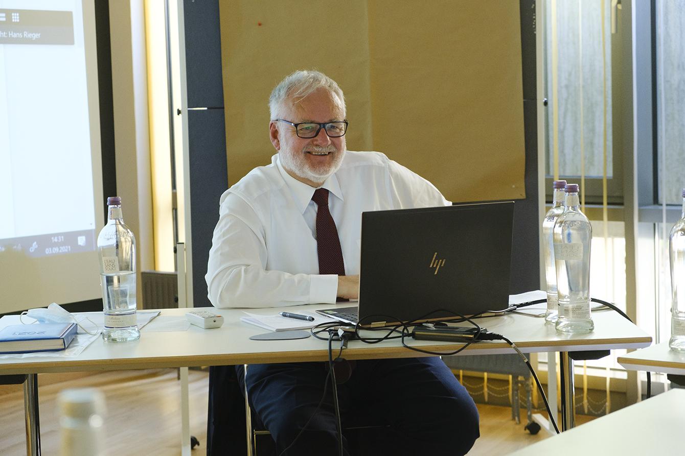 Foto: Jürgen Müller während der Tagung